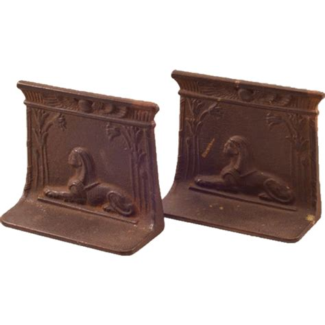 vintage style cast iron easter vintage sphinx cast iron bookends from