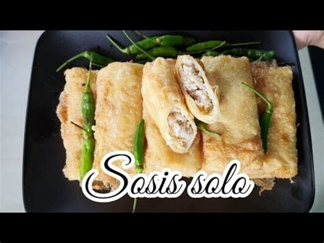 resep sosis solo anti gagal gampang  enak youtube