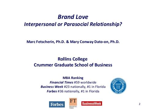 Rollins College Mba Ranking by Brand Interpersonal Or Parasocial Relationship