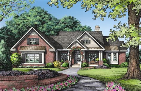 brick house floor plans one story brick ranch house plans one story ranch style 1