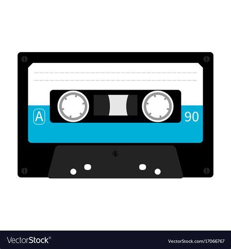 cassetta musica plastic audio cassette retro icon vector image