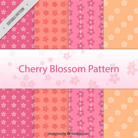 sakura pattern ai cherry blossom pattern collection vector premium download