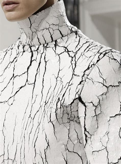 White Color Paint Sweater cracked leather sweater with heavily textured surface like cracked white paint striking fashion