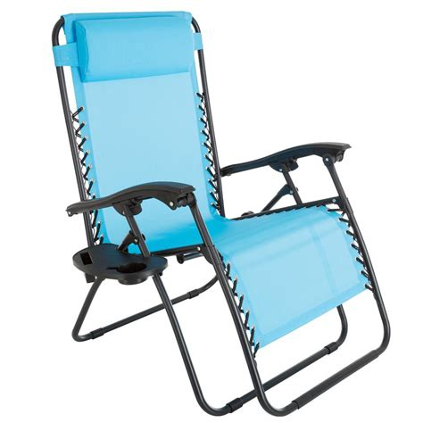 pure garden oversized  gravity patio lawn chair