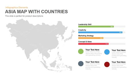 Asia Map With Countries Powerpoint Keynote Template Slidebazaar Powerpoint Map Template