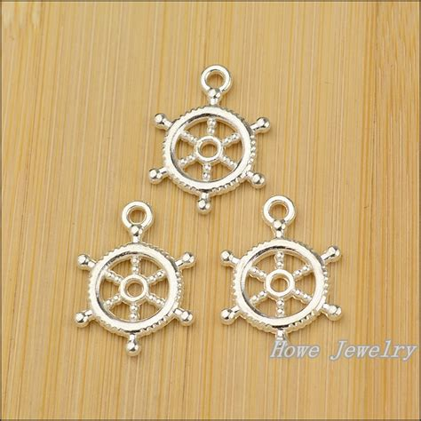 free shipping 100pcs charm anchors pendant bright silver
