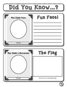 student report this great state trees flags and student