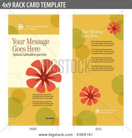 Free Template For 4x9 Rack Card by 4x9 Rack Card Brochure Template Vector Stock Vector