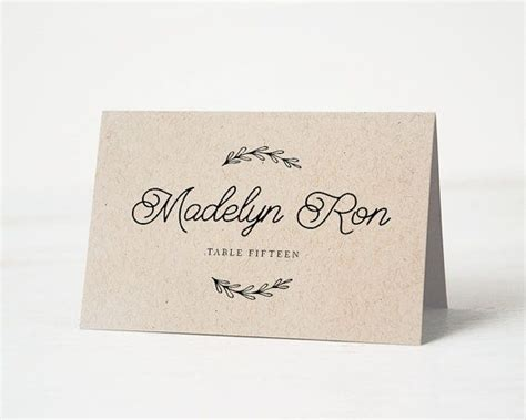 rustic wedding place card template best 25 rustic place cards ideas on wedding