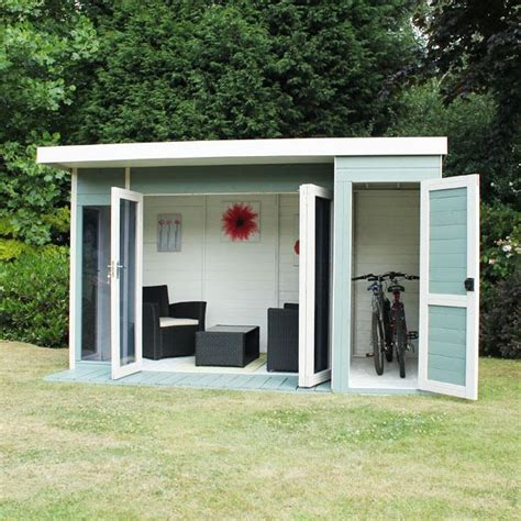 side house shed 12 x 8 waltons contemporary summerhouse with side shed lh