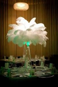 feather and flower centerpieces flower and event decor ostrich feather centerpieces