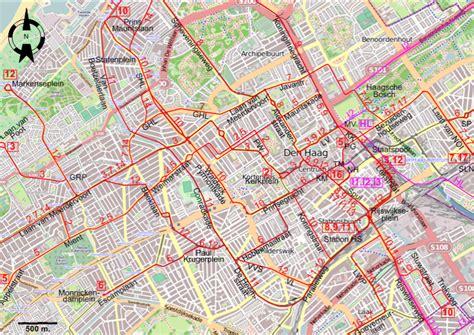 netherlands map den haag den haag the hague 1950