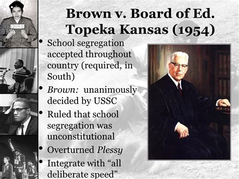 what did brown v board of education challenge the civil rights movement ppt