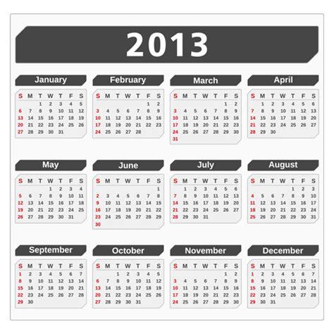 calendar design elements creative 2013 calendars design elements vector set 14