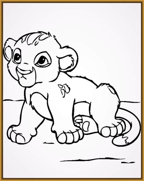imagenes para colorear bebes dibujos para pintar de tigres y leones para colorear
