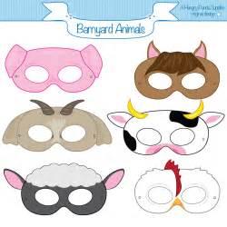 printable animal masks cow this listing is for 6 printable mask jpg files that are