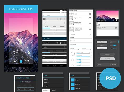 photoshop templates for android 35 gorgeous free app design templates