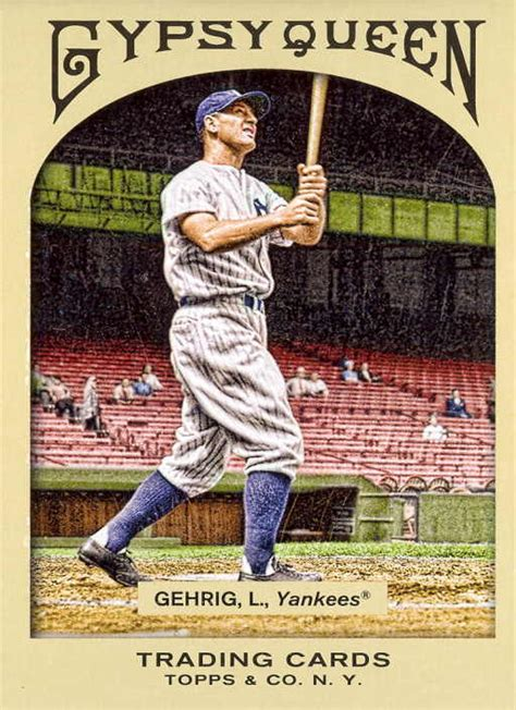 lou gehrig swing wrigley wax gypsy queen complete set