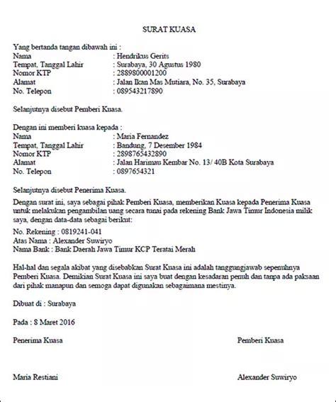 format surat kuasa pengambilan akta cerai contoh surat