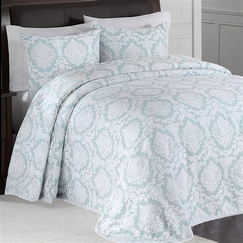 aqua matelasse coverlet aqua and white bedding