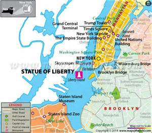 Show Me A Map Of New York by Statue Of Liberty New York Facts Hours Location