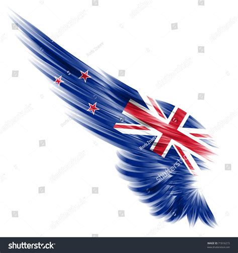 abstract wallpaper nz new zealand flag on abstract wing stock illustration