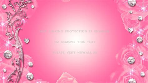 abstract diamonds flowers pink roses  widescreen background