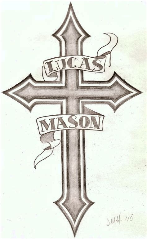 name cross tattoo 2 by wetcanvas on deviantart
