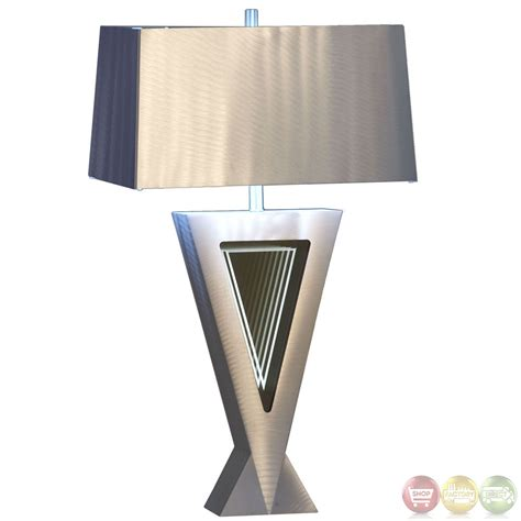 Table Lamps Modern by Vectors Infinity Mirror Silver Aluminum Modern Table Lamp