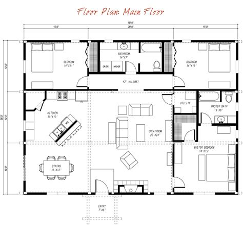 country barn plans ponderosa country barn main floor plan sims house ideas