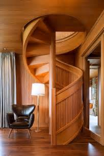 Wooden Spiral Stairs Design Flowing Spiral Wood Staircase Is A Work Of