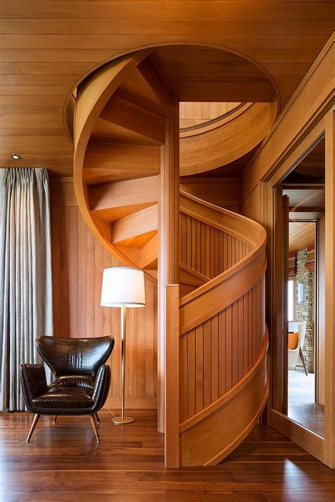 wood staircases flowing spiral wood staircase is a work of art