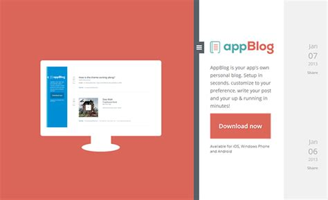 tumblr themes apps appblog tumblr theme free on app design served