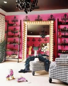 Houndstooth Chairs Designing Bliss Pink Underneath