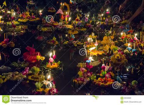 loy lake christmas lights bangkok thailand november 25 loy krathong festival
