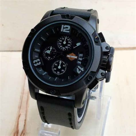 Jam Tangan Harley Davidson Silver Black jam tangan harley davidson chronograph 6295 h harga murah