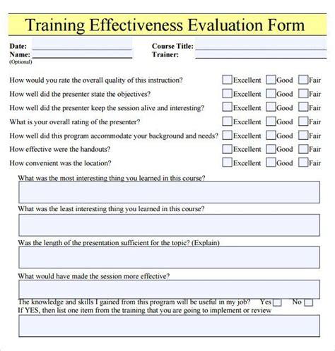 Teacher Appraisal Form Template