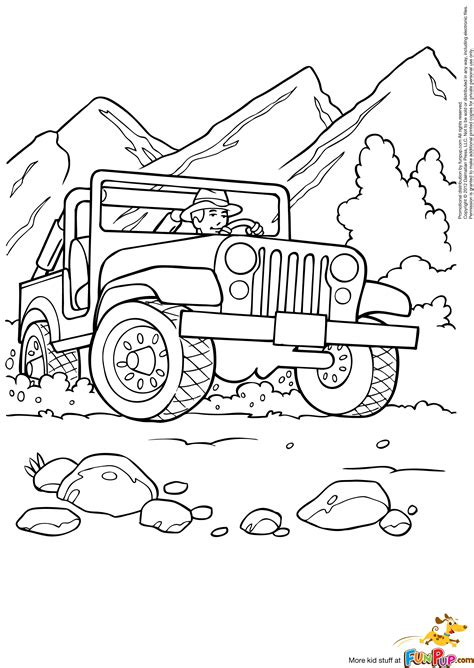 jeep renegade coloring page free jeep coloring pages to print procoloring jeep