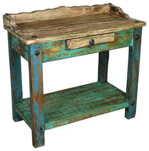painted wood telephone table rustic plant stands and