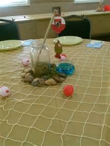 Fishing theme wedding party decor so easy to do but we will do better