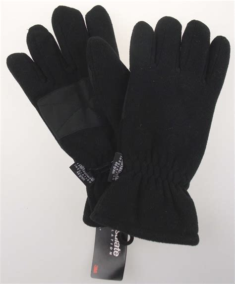 Home Decorating Stores athletech mens black winter gloves 3m thinsulate