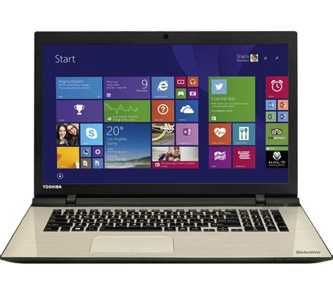 toshiba satellite l70 c 13c 17 3 quot laptop silver deals pc world