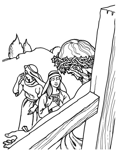 coloring pages jesus crucifixion e5152 of jesus bible story coloring book