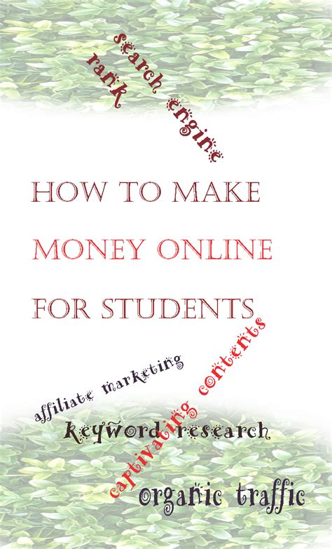 How To Make Money Online As A Student - how to make money online for students financial independent people