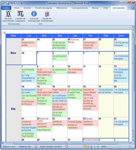 Crear Calendario Word Creador De Calendario Para Word Y Excel