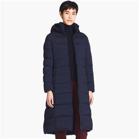 uniqlo ultra light coat lyst uniqlo ultra light stretch coat in blue