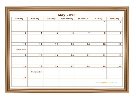 Calendar May 2015 May 2015 Calendar Blank Printable Calendar Template In