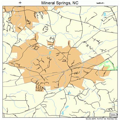 springs carolina map mineral springs carolina map 3743360