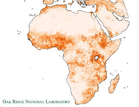africa map 2000 africa ambient population map