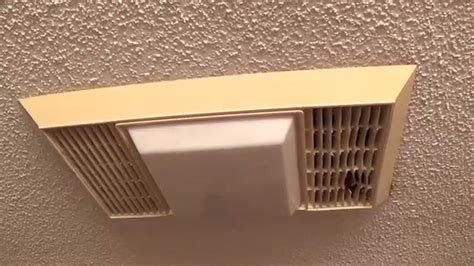 how to remove broan bathroom fan cover vintage miami carey bathroom exhaust fan youtube